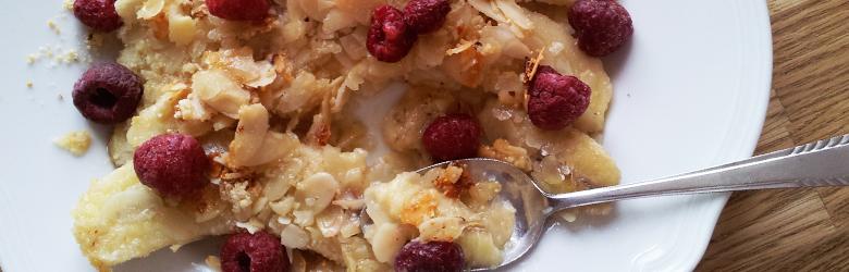 Banaan Amandel Honing Dessert