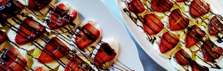 Aardbeien met Mozzarella